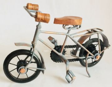 Rustic BICYCLE BIKE Metal / Wooden Model 17cm